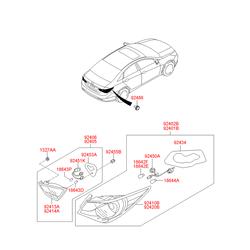 Корпус фонаря с рассеивателем (Hyundai-KIA) 924143S020