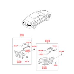 Фонарь задний (Hyundai-KIA) 924033K020