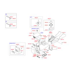 Проводка напольной консоли салона (Hyundai-KIA) 916813K010