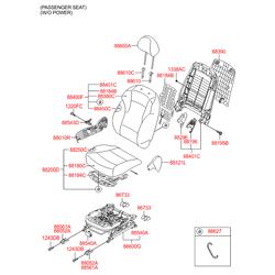 Чехол подушки переднего сиденья (Hyundai-KIA) 882603S010RYY
