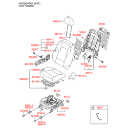 Чехол подушки сиденья (Hyundai-KIA) 881603S111RYY