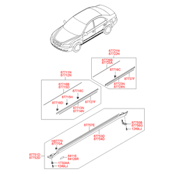 Фиксатор молдинга кузова (Hyundai-KIA) 877643K000