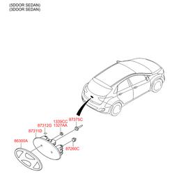 Опора кронштейна номерного знака (Hyundai-KIA) 8737222000