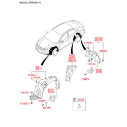 Подкрылок (Hyundai-KIA) 868423S000