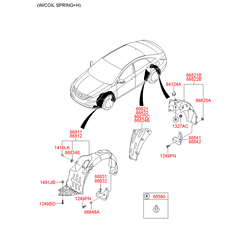 Подкрылок передний левый (Hyundai-KIA) 868313S500