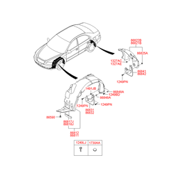 Подкрылок (Hyundai-KIA) 868213K500