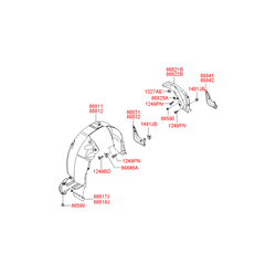 Подкрылок (Hyundai-KIA) 868123K000