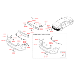 Бампер (Hyundai-KIA) 866103S010