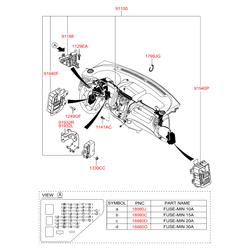 Винт крепления обшивки двери (Hyundai-KIA) 1249205203