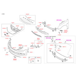 Решетка бампера (Hyundai-KIA) 865613S000