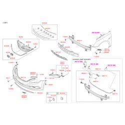 Решетка радиатора (Hyundai-KIA) 863503S700