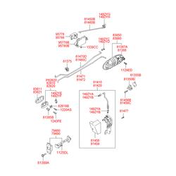 Ручка двери передней левой наружная (Hyundai-KIA) 836503C000