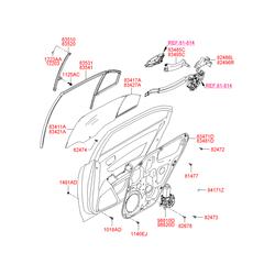 Стеклоподъемник (Hyundai-KIA) 834813K001