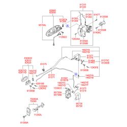 Ручка двери (Hyundai-KIA) 826603C000