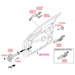 Ручка двери (Hyundai-KIA) 82651C1000