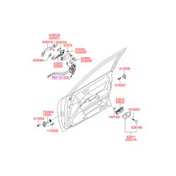 Ручка двери пластмассовая (Hyundai-KIA) 826513K000