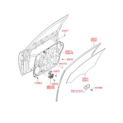 Внутренняя панель двери (Hyundai-KIA) 824713K002