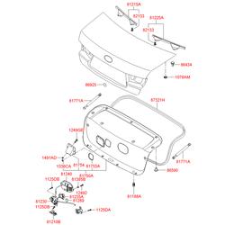 Рукоятка крышки багажника (Hyundai-KIA) 817543K000