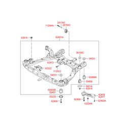 Подрамник моторного отсека (Hyundai-KIA) 624053K900