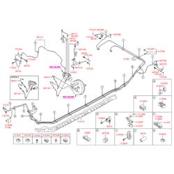 Трубка тормозной системы (Hyundai-KIA) 587183S451