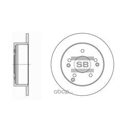 Диск тормозной (Sangsin brake) SD1006
