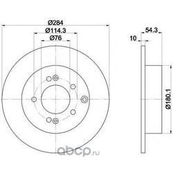 Тормозной диск (Mintex) MDC2013