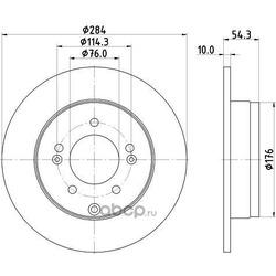 Диск тормозной задний (NISSHINBO) ND6003K