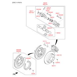 Тормозные колодки (Hyundai-KIA) 58302D4A50