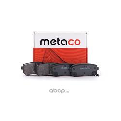Колодки тормозные задние дисковые (комплект) (METACO) 3010007