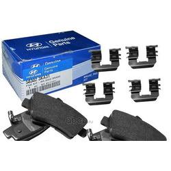 Комплект тормозных колодок с накладками (4шт) (Hyundai-KIA) 583023KA31