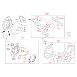 Прижимная пластина тормозных колодок (Hyundai-KIA) 582442S000