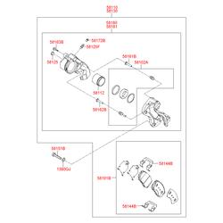 Прижимная пластина тормозных колодок (Hyundai-KIA) 581443K000
