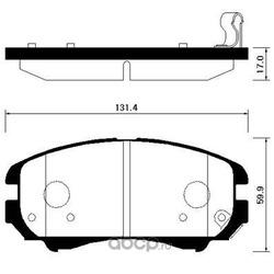 Колодки тормозные передние (HSB) HP0042