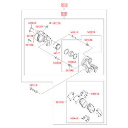 Тормозные колодки (Hyundai-KIA) 581013KA20