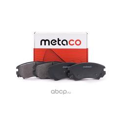 Колодки тормозные передние (комплект) (METACO) 3000026