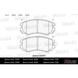 Колодки тормозные передние (Miles) E400019