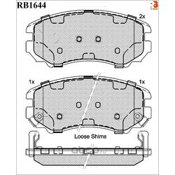 Дисковые тормозные колодки (R BRAKE) RB1644