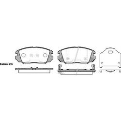 Колодки тормозные передние с датчиком (Road house) 2120402