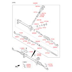 Внутренний наконечник рулевой тяги (Hyundai-KIA) 57724C1000