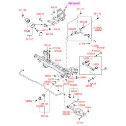 Втулка стабилизатора (Hyundai-KIA) 555133K000