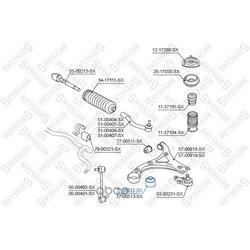 Сайлентблок рычага заднего (STELLOX) 7700512SX
