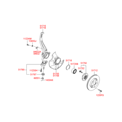 Цапфа поворотного кулака (Hyundai-KIA) 517163K050