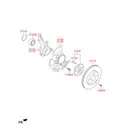 Цапфа поворотного кулака (Hyundai-KIA) 517162T010