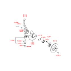 Цапфа поворотного кулака (Hyundai-KIA) 517153K050