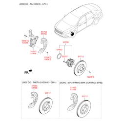 Поворотный кулак подвески (Hyundai-KIA) 51710F6000