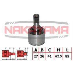 Шрус внутренний (комплект) (Nakayama) NJ7260NY