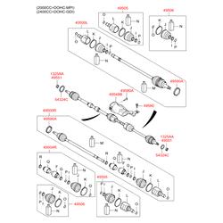 Привод колеса в сборе (Hyundai-KIA) 495003S001