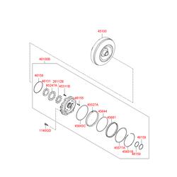 Гидротрансформатор акпп (Hyundai-KIA) 451003BHB0