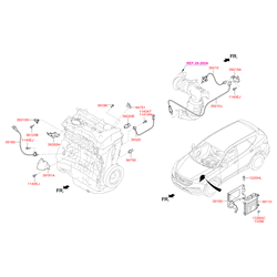 Датчик положения распредвала (Hyundai-KIA) 393502G000