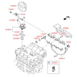 Топливная форсунка (Hyundai-KIA) 353102GGA0